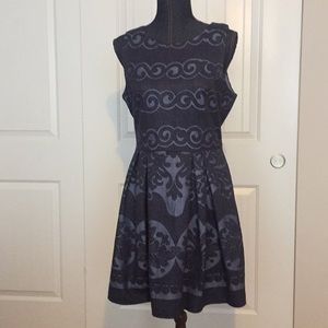 Altered State navy and lite blue sleeveless dress